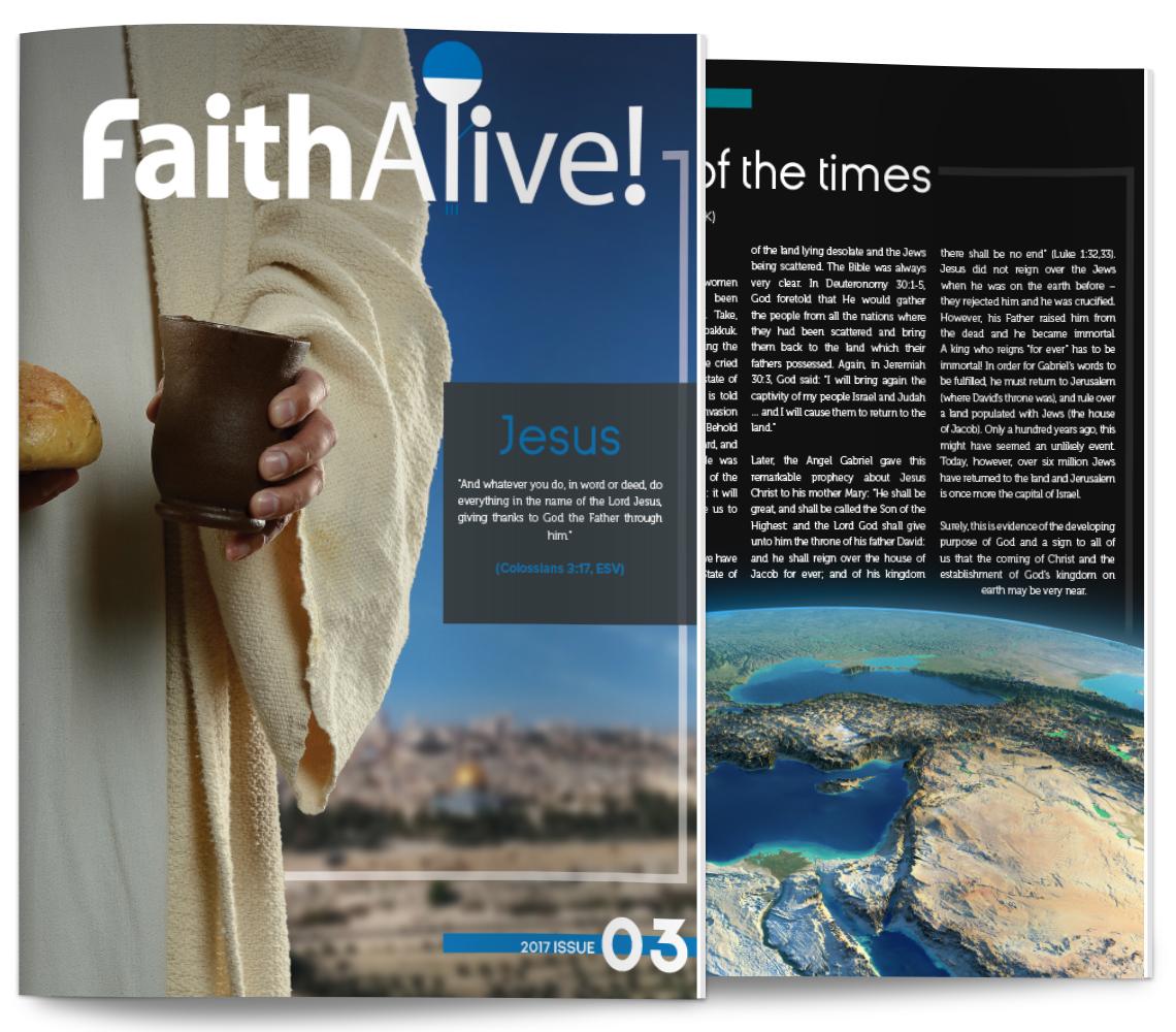 Faith Alive! magazine sample issue