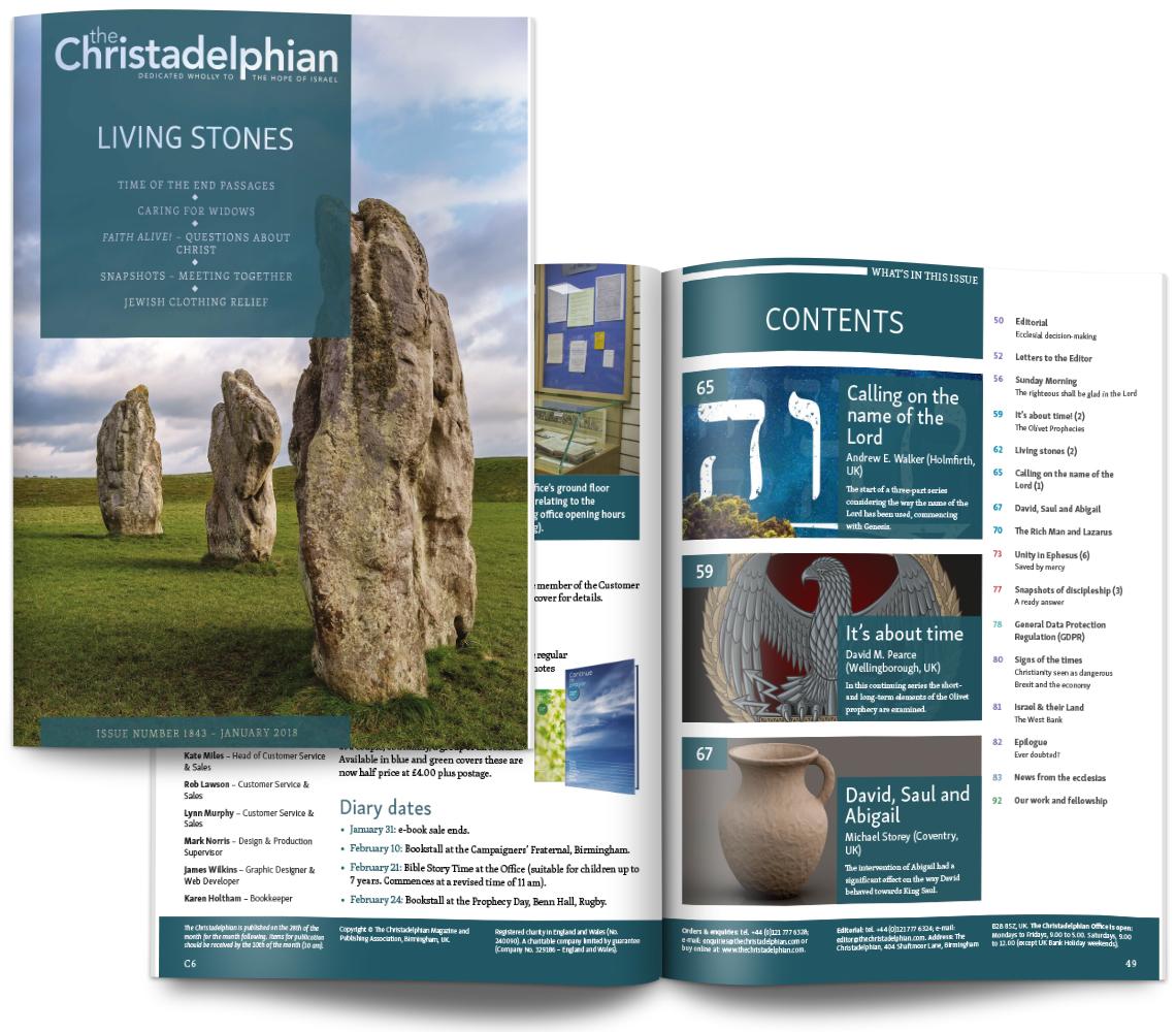 The Christadelphian magazine sample issue